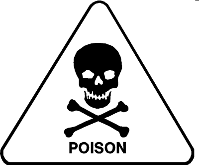 skull and cross bones: poison
