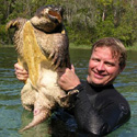 Steve Johnson with Snapping Turtle